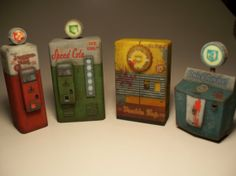 Nazi Zombies Miniature Perk Machines from Call of Duty - Full Set: Juggernog, Speed Cola, Double Tap, Quick Revive
