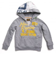 Cotton hoodie with pouch pocket, prints | Sweaters | Garçon | SS13 | Replay & Sons | REPLAY Online Shop