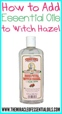 Adding essential oils to witch hazel has so many uses for health, beauty and more! What is Witch Hazel? You've probably seen witch hazel in the ingredients list of many health and beauty products. Witch hazel is an astringent compound that is produced from the leaves and bark of the North American witch hazel shrub. …