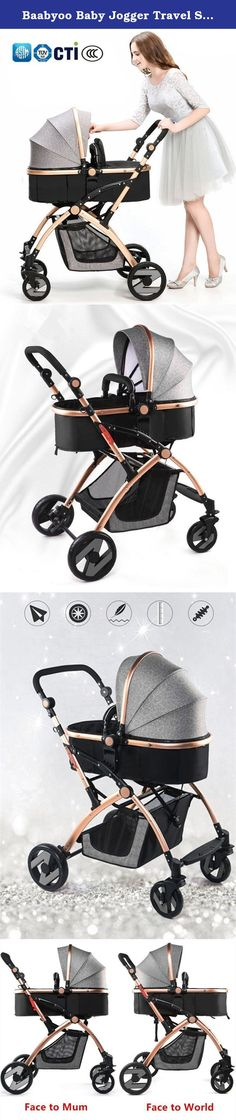 Baabyoo Baby Jogger Travel System Two-way Stroller High-view Baby Carriage Folding Convenience Infant Umbrella Stroller Anti-shock Toddler Pushchair Khaki. Easy Compact Fold for Storage or Travel As a professional seller selling baby products for a long time, we have dome many researches about infant strollers among parents or people with needs of baby strollers. Then we choose some to sell on Amazon. We have doing baby business for rather a long time. Our baby strollers have gained CCC...