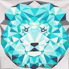Paper Piecing Lion Abstraction