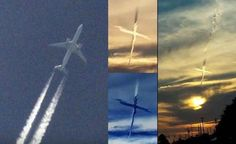 Mysterious Cross appears in the sky during geoengineering activities in the US