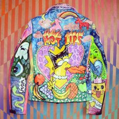 lisa simpson kitsch jacket | fashion | colorful