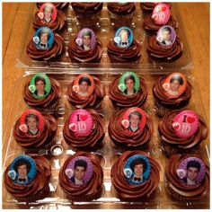 1D chocolate/chocolate cupcakes 02.15.2014 #onedirection #cupcakes