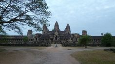 Angkor Wat in Cambodia during my first sunrise visit. This is on the backside of the main Angkor Temple