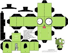 Adel's Book: Cube Paper Craft Some Cute Characters