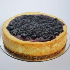 Baked blueberry cheesecake with homemade cream cheese from The Baker Ninja, Chennai.