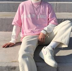 Korean Fashion – How to Dress up Korean Style – Designer Fashion Tips Indie Outfits, Retro Outfits, Boy Outfits, Vintage Outfits, Cute Outfits, Fashion Vintage, Fashion Outfits, Summer Outfits, Pink Outfits