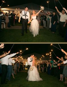 Sparkler Exit... The Groom wore a Go-Pro!  The Cliffs Resort in Pismo Beach, CA photographer Ashley Blake