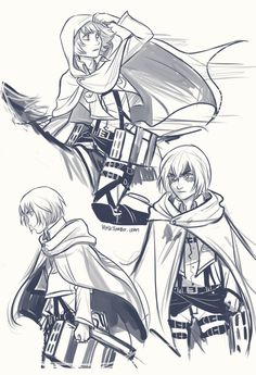 and then I got a little carried away with my Armin doodles…No seriously, the more I think about Armin, the more I love him. Considering I think about Armin quite a lot I am almost positive he's actually my favourite.__.