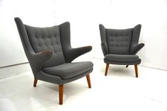 stunning pair of #wegner #Papa #Bear chairs in Hallingdal £19950