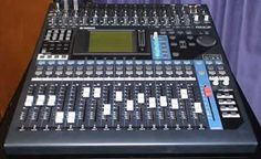 this is a YAMAHA O1V-96 DIGITAL sound desk and is used in alot of theaters, it is compact but it can cope with up to 40 inputs. its prefeshinal quality and yamaha relyability make is a good choice for most small theaters.