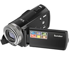 Besteker camcorder-A perfect starter video camera in an affordable price. You won't miss any action when shooting video with Besteker camcorder and its impressive 16x digital zoom range. Awesome to be...