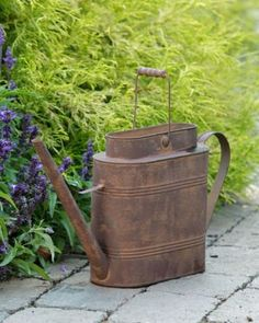 Oblong Rusty Watering Can