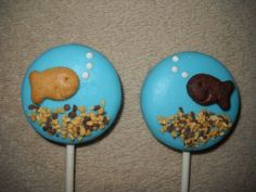 1 chocolate fudge brownie or vanilla fish oreo nemo lollipops lollipop   sapphirechocolates - Edibles on ArtFire