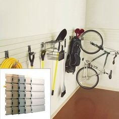 Bundle-32 8' Heavy Duty Garage Organizer Slatwall (3 Pieces) Color: Global Pine