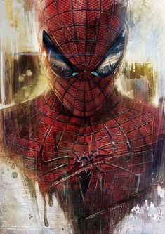 Grunge style picture of Spiderman