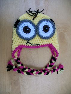 Minion Earflap Hat - pinned by pin4etsy.com