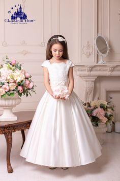 da323d84a92a7b5 Длинное пышное вечернее нарядное детское платье цвета «айвори» на прокат в  Днепре «Флоренция (ivory)