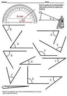 Diversas fichas para imprimir sobre ángulos, triángulos, cuadriláteros, polígonos, áreas, etc... Math For Kids, Fun Math, Math Games, Math Activities, 2nd Grade Math, Math Class, Math Worksheets, Math Resources, Math Exercises