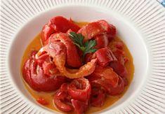 Mâncare de gogoșari cu sos din brânză Gorgonzola Ratatouille, Bruschetta, Thai Red Curry, Shrimp, Meat, Ethnic Recipes, Food, Recipes, Fine Dining