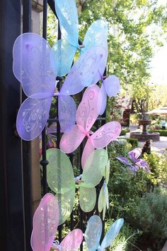Pretty wing favors at a fairy birthday party! See more party ideas at http://CatchMyParty.com!