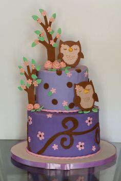 Purple Owl Cake