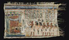 Egyptian painted votive linen  ca. 300-1200 B.C.