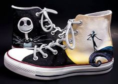 Hey, I found this really awesome Etsy listing at https://www.etsy.com/listing/201183857/nightmare-before-christmas-custom-shoes