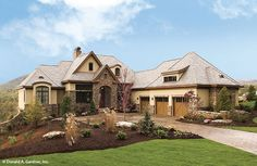 Plan of the Week Over 2500 sq ft - The Hollowcrest 5019!  4357 sq ft, 5 beds, 5 baths. #WeDesignDreams