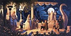 Tolkien Calendar Centerfold 1978 At The Grey Havens, Brothers Hildebrandt