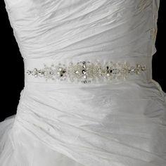 Swarovski Crystal Adorned Wedding Sash Belt - https://www.howdivine.com.au/store/product/swarovski-crystal-adorned-wedding-sash-belt