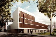 #Exterior #moderno #edificios via @planreforma #dibujos #fachada #render-maqueta