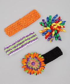 Take a look at this Rainbow Polka Dot Korker Clip Set by Dress Up Dreams Boutique on #zulily today!