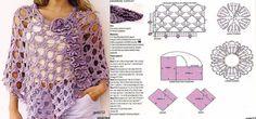 Poncho Calado Lila Patron - Patrones Crochet