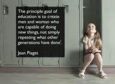 Some Back to School inspiration from the man who wrote the book on child development, Jean Piaget. Jean Piaget, Quotable Quotes, Motivational Quotes, Inspirational Quotes, Qoutes, Teaching Quotes, Education Quotes, Teaching Tips, My Academia