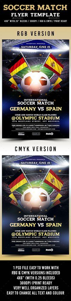 Soccer Flyers Bundle V  Event Flyers And Flyer Template