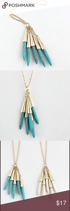 • Adorable Turquoise Pendant Necklace • ITEM DETAILS: • Gold Toned • Made of zinc alloy • Nickel and lead free  DISCOUNT: • On bundles • 30% off for return customers  SHIPPING: • The next day  NOTE: • Color may be slightly different from the actual item due to the lighting • Reasonable offers welcome Jewelry Necklaces