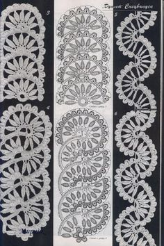 SOLO PUNTOS: Crochet Círculos y medios cículos                              …