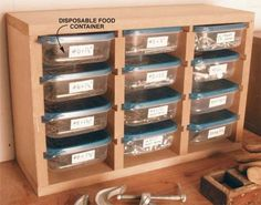 small part organizer. More Woodworking Projects on www.woodworkerz.com