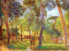 "bofransson: "" Evening in the Borghese Gardens by Joy Girvin """