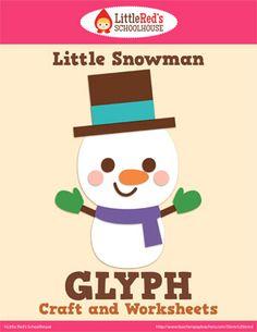 Little Snowman Glyph Craft