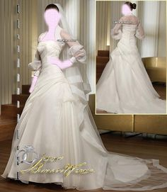 Saint Patrick , Long Sleeve Wedding Dresses Bridal Gown , Ivory SimPle Lace Chiffon Tulle , Idea , Jacket Bridal Wraps , Wedding Veil