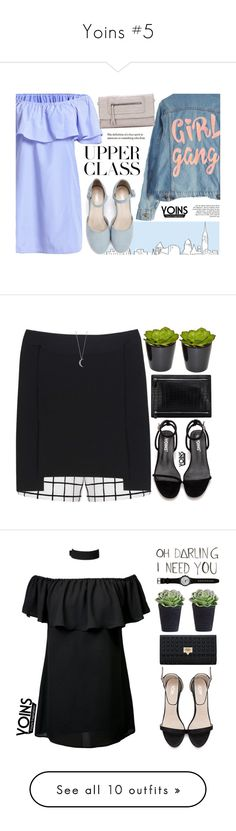 """""""Yoins #5"""" by mihreta-m on Polyvore featuring outfit, chic, fab, yoins, High Heels Suicide, Lipsy, Roland Mouret, The French Bee, Wanderlust + Co and Swatch"""