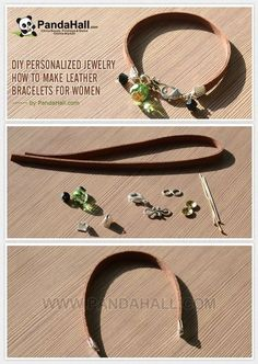 Leather bracelet idea