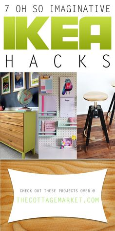 7 Oh So Imaginative IKEA HACKS {DIY Projects} - The Cottage Market