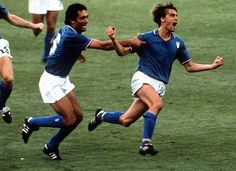This is my favorite World Cup Moment.  After putting his side 2-0 up in the World Cup final against West Germany in 1982, Italian midfielder Marco Tardelli went on a goal celebration unlike any other. Running towards the bench, he became completely overwhelmed – screaming and crying as he thanked the heavens for his goal. West Germany lost 3-1 and Italy became World Champions. Marco Tardelli's yell of 1982 signaled a change in goal celebrations as players became proud to show their passion.