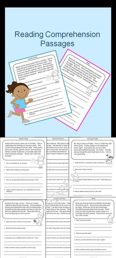 This Reading Comprehension Package for primary students contains 20 short reading passages with four questions each. There are 13 fiction and seven non-fiction passages. It is aimed at a second grade level. Reading Help, Reading Centers, Reading Lessons, Reading Skills, Teaching Reading, Learning, Reading Comprehension Worksheets, Reading Fluency, Reading Passages
