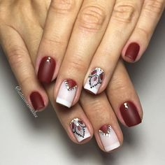 Fails design summer red manicures 49 new Ideas Manicure Nail Designs, Red Manicure, Toe Nail Designs, Red Nails, Hair And Nails, Love Nails, Pretty Nails, Nail Spot, Nails Polish