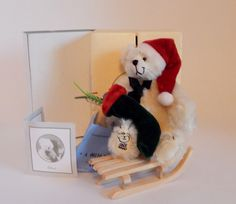 For your consideration is a lovely Mayfair Edition mohair miniature teddy bear named Chris.It was designed by UK bear artist Eleonore